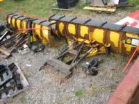 Two used Fisher snow plows with Flink Hitch - Plows are
