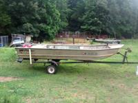 Fisher Aluminum Boat 14 foot long, 64 inches wide, 20