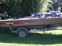 Fisher Bass Boat 17ft-10in. Long Fisher boat with