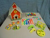 Fisher Price 1971 School House with bell and