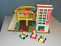 Fisher Price 1970 Parking Ramp Service Center, masonite