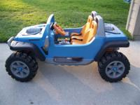 jeep hurricane ride on toy with upgraded front axle to