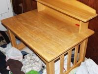 **Fisher Price light wood art desk & matching 3 drawer