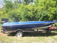 18' bass boat with a 105 chrylser. ran great 2 years