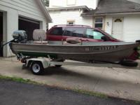 12 ft Aluminum boat with Trailer for sale. $1200. Or