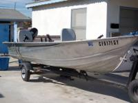 Up for sale is a great fishing boat and trailer. The