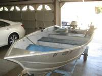 12 FOOT WELDED ALUMINUM WESTCOASTER,   HAS DEEP HULL,