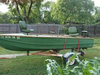 1965 Aluminum fishing boat with new wood rails Grouped