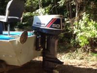 17 ft aluminum hand crafted boat: 50 hp outboard /low