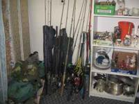 There are at least 25 or more Fishing RODS REELS some