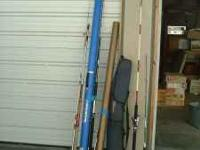 I have several fishing rods, some reels, various sizes