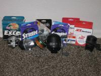 Great deal of Fishing devices including fishing line,