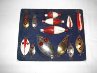 FISHING LURE COLLECTION THESE LURES ARE FROM THE 1940?S