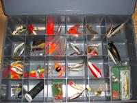 Andy cleaning out the basement. Have some old lures in