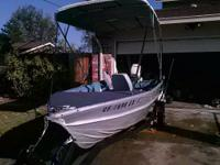 12 Foot Valco Aluminum Fishing Boat. 15hp Johnson