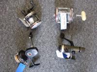 We just received in some fishing equipment - 4 poles, a