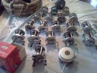 20 Old Fishing Reels Pflueger, Ocean City, Shakespeare,