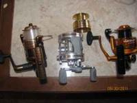 I have 3 fishing reels. R2F (brown) 5.2:1 gear ratio