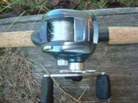 Ambassadeur reel and Shimano rod in excellent