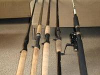 Four rods and one combo for sale. $20each. Call Freddie