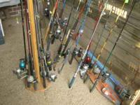i have 20 plus rods and reels for $10 to $40 each if