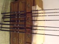 FISHING RODS LOT INCLUDES : 7 -PENN MARINER 50 - 100Lb
