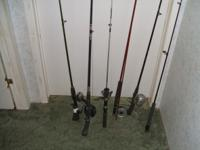 I HAVE SEVERAL RODS & REELS FOR SALE.  BRANDS