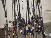 Huge variety of fishing rods! Too many too list. Many
