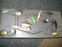 I have fishing tackle, a hand painted st.corix fishing