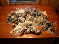 1000 soft plastic baits worms,lizards and craws this is