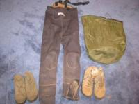 size large neoprene waders with size 10 cabellas boots