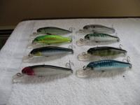 "FOR SALE:. 8-Fishing baits Brand New. 41/2"" long with"