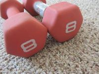 Physical fitness Gear 8 pound Neoprene DUMBBELL - SET