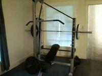 **bar and weights not included** for sale is a fitness