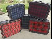 I have 5 different plaid suitcases that are awesome!