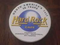 Five Hard Rock Cafe Toronto Coasters, just like the one