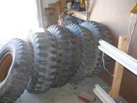 five military NDT 9.00 X 16 tires. USED 300.00 for the