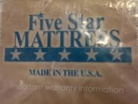 Wow! Five Star Pro-Comfort Delaware Mattress, Box
