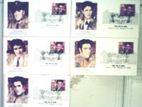 Five USPS First Issue Elvis Presley Envelopes 5 First