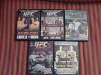 I have 5 UFC dvd's for $40.00 for all or 8.00 each. UFC