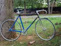 Viscount frame converted to fixed gear. new wheels,