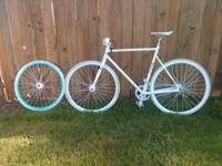 All white Fixie. $399 Or Best Offer. Great condition. I