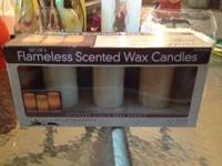 Flameless Scented Wax Candle Set, Never Opened still in