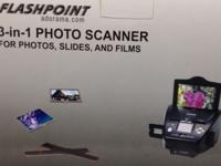 Flashpoint 3-in-1 scanner digitizes photo prints,