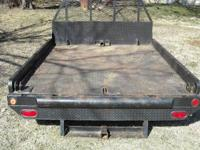 Flat bed for long wheel base single wheel chevy truck