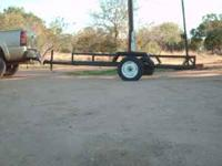 This is a 12 x 6 flat bed trailer, strong well built