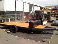 i have for sale a flatbed trailer i made in hig school