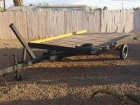 Load Rite Trailer Converted boat trailer with clean