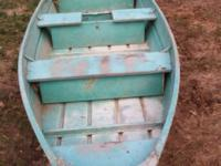13 ft flat bottom boat, it's been in a shed for a