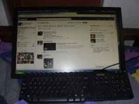 flat screen desktop computer in good condition only the